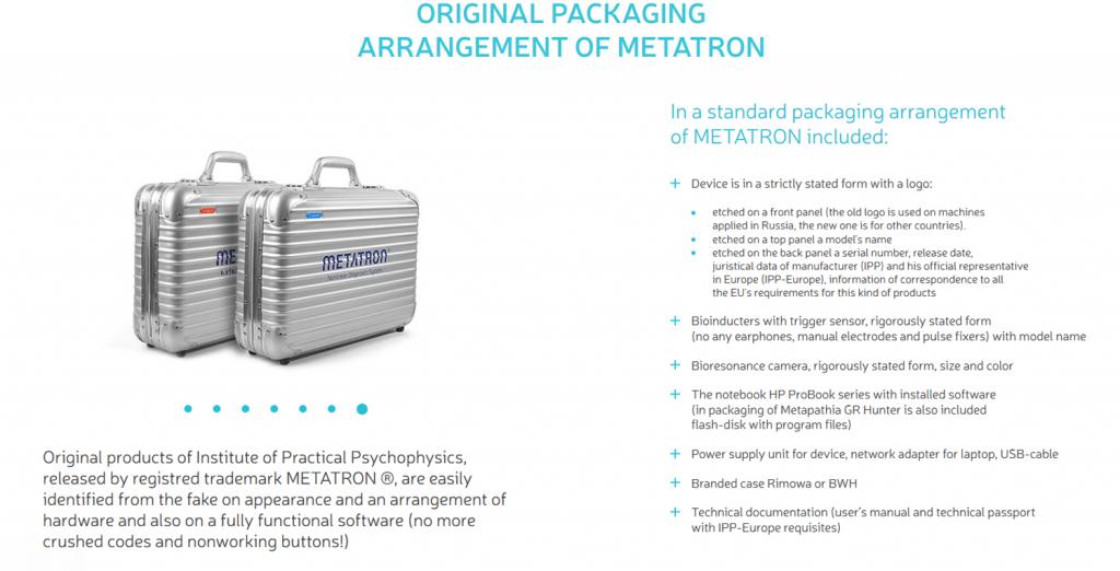 original packaging arrangement of metatron 1